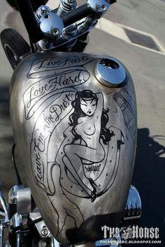 Bare metal Bike tank