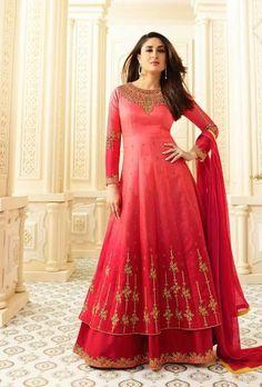 Red Designer Party Wear Anarkali Suit