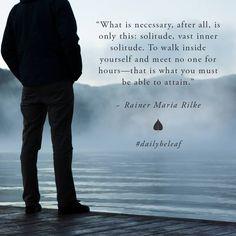 Solitude / Rainer Maria Rilke
