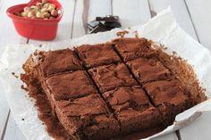 Brownies senza burro, con doppio cioccolato, ricotta e nocciole