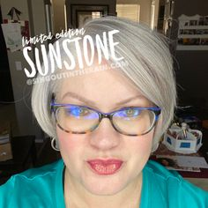 Limited Edition Sunstone LipSense by SeneGence is a warm color. You can view it on people, look at combos or comparisons or even in a collage.  However, nothing rivals seeing it on a real person.  Click to purchase yours NOW!  #lipsense #senegence