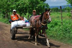 Transportation in the hood by the LifeLink Ministry Base - Nicaragua
