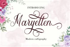 Maryellen is a beautiful light handwritten font with a unique feel and a stunning impact. It will add a luxury... Handwritten Fonts, Calligraphy Fonts, Script Fonts, All Fonts, Modern Calligraphy, Pretty Fonts, Beautiful Fonts, Beautiful Lights, Feminine Fonts