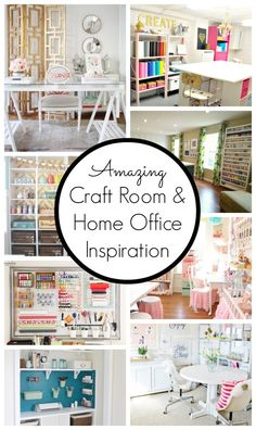Amazing Craft Room and Home Office Inspiration - www.classyclutter.net I must have a craft room at my house