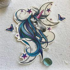 Unicorn+Tattoo++Unicorn+Temporary+Tattoo++Purple+Unicorn+
