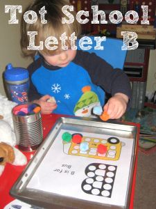 Tot School Printables Letter B is for Ball from Wildflower Ramblings #totschool