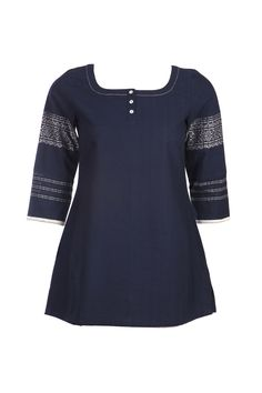 This is an essential for your wardrobe. A short casual kurta.  New Spring/Summer Collection 2013.  #w #woman #short #kurta #dark #blue #fashion #clothing #casual