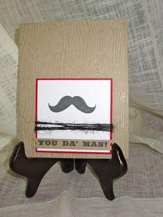 You Da Man Mustache birthday card by lindsaynspencer on Etsy, $3.25