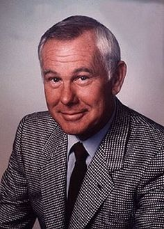 """Johnny Carson -- (10/23/1925-1/23/2005). Television Host/Comedian - Satire, Sketch and Improvisational. He is known for hosting """"The Tonight Show"""". He died of Respiratory Failure arising from Emphysema at the age of 79."""