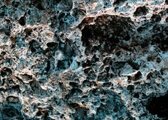 beautiful rough texture of the stone with various pits and tubercles
