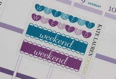 April Weekend Planner Stickers for Erin Condren Life Planner Weekend Banners Weekend Stickers April Weekend Banners