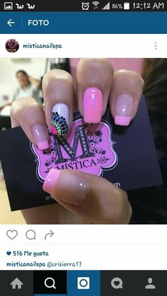Nail Designs, Projects To Try, Nail Art, Pedicures, Nails, Diana, Finger Nails, Pink, Amor