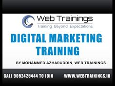 Digital Marketing Tutorial for Beginners - Online Marketing Course - Web Trainings Academy - Key Marketing Elements Marketing Jobs, Digital Marketing Strategy, Content Marketing, Social Media Marketing, Marketing Training, Facebook Marketing, Online Digital Marketing Courses, Internet Marketing Course, Online Business