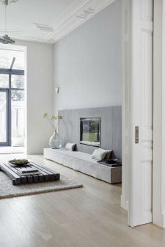 Graues Wohnzimmer   Leuchtend Grau.de #Grey #Livingroom #minimal #Minimalism