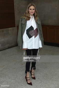 Olivia Palermo attends the Emilia Wickstead show during the London Fashion Week February 2017 collections on February 18 2017 in London England