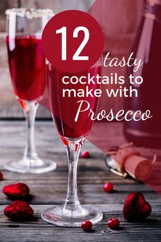 Prosecco is a popular alternative to champagne and is very good in cocktails.  But which cocktails?  Check out these 12 ideas for the best Prosecco cocktail recipes and do more with your bubbly than just sipping it in the sunshine! Cocktails To Try, Prosecco Cocktails, Refreshing Cocktails, Classic Cocktails, Kid Drinks, Liquor Drinks, Party Food And Drinks, Alcoholic Drinks, Drinks Alcohol Recipes