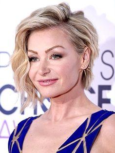 Portia de Rossi's Asymmetrical Bob Haircut   allure.com