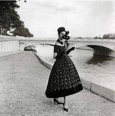 Photographer: Willy MaywaldYves Saint Laurent for Christian Dior, 1958