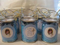 First Holy Communion centerpieces I made for my cousin. We all enjoyed ...