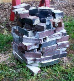 kiln we built for sawdust firing
