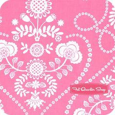 Ooh La La Rose Bande De Fleurs Yardage  SKU# DC5205-ROSE-D   Ooh La La by Pillow & Maxfield for Michael Miller Fabrics