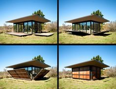 Love this! Closed Cabin – Olson Kundig Architects // False Bay Writer's Cabin