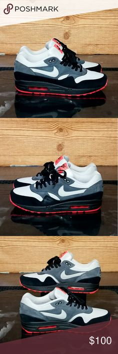 premium selection 54a13 c477d Nike Air Max 1 LTHR- 654466-004- Mens Size 9D Pre Owned and