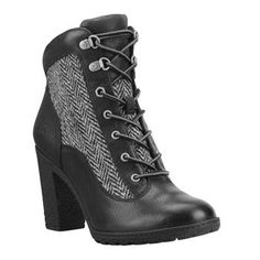 Timberland - Bottines Glancy Fabric And Leather Hiker Femme - Noir