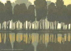 Lake at Dawn II Fine-Art Print by Norman Wyatt at UrbanLoftArt.com