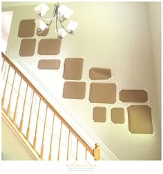 Learn how to design, plan and hang your own staircase gallery wall! I'm walking you through my thought process from start to finish complete with photos. Picture Wall Staircase, Stair Photo Walls, Stairway Gallery Wall, Picture Walls, Decorating Stairway Walls, Staircase Wall Decor, Stair Decor, Staircase Ideas, Staircase Remodel