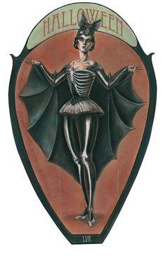 Vintage bat lady Halloween costume