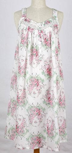Womens Nightie - French Country Sleepwear - chandelier floral