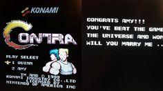 O veterano jogador EquinnoxX documentou como ele modificou um cartucho velho do Contra com um pedido de casamento para a sua namorada no final do jogo.