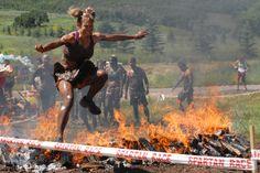Spartan Race fire wall