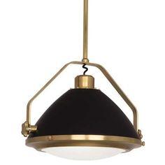 robert abbey apollo large pendant antique brass light fixture