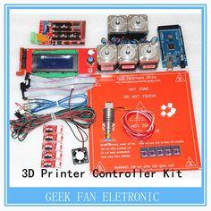 61.41$  Watch here - http://aliwob.worldwells.pw/go.php?t=32451918815 - DRV8825 +Ramps 1.4 + Mega2560 R3 + Hot end 3D Printer Controller Kit For RepRap KIT054