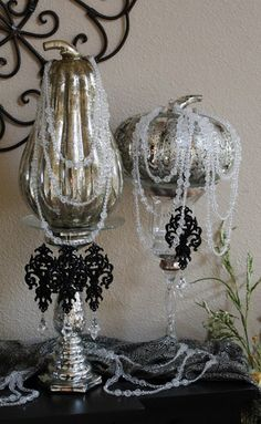 Glam Fall Decorating Mercury Glass Fall Decorating Pinterest