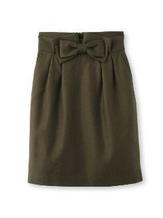 リボンウールスカート(膝丈スカート)|anatelier(アナトリエ)|ファッションウォーカー