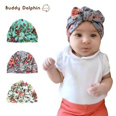 00a73fa5625 2PCS Cotton Baby Hat Toddle Baby Girls Printed Patter Hats   Price   6.71   amp