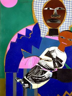 Black Madonna and Child  | by Romare Bearden, United States  Read more: http://theculture.forharriet.com/2015/12/13-blessed-depictions-of-black-madonna.html#ixzz4NBXDfjF9  Follow us: @ForHarriet on Twitter | forharriet on Facebook