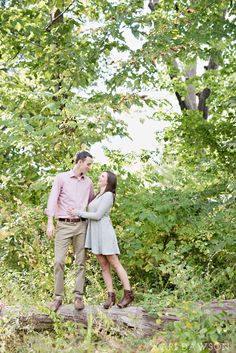 A fall Arboretum engagement in the woods just off of the University of Michigan campus by Kari Dawson Photography