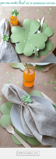 Do Leprechauns Like Mimosas? 🍀🍻 Hosting a brunch this St. Patty's day? Deck your table in good luck charms like these oversized clover placemats. We've also crafted some matching shamrock confetti for you to sprinkle to your heart's content. https://liagriffith.com/clover-placemats/ * * * #stpattysday #brunch #brunchtime #table #tables #tabletop #hostess #hosting #stpatricks #clover #green #holidays #diy #diyidea #diyideas #diyproject #diyprojects #paper #papercut #cricut #cricutmade…