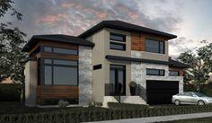 Projet résidentiel Candiac | Construction BOCASTEL Beautiful Home Designs, Beautiful Homes, Modern Exterior, Exterior Design, My Dream Home, Dream Life, Dream Homes, Future House, Facade House