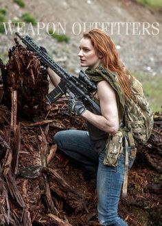 Ethereal Rose with her personal rifle. Daniel Defense 14.5″ LW, Novekse NSR 13.5, PWS Lower, Macedon Defense KRAM Spacer, Magpul PMAGBattleComp 51.0