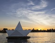 """Paper Boat"" instalation"