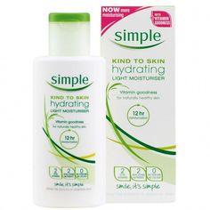 Simple Kind To Skin Hydrating Light Moisturiser, £4.19 #SugarScrubForFace Oily Skin Care, Anti Aging Skin Care, Skin Care Tips, Dry Skin, Best Moisturizer, Moisturiser, Oily Skin Routine, Foundation For Oily Skin, Skin Care Remedies