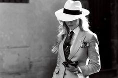 Sarah Ann Murray - International Group Fashion Editor for The Rake - Wearing: Q Menswear, Rubinacci, Borsalino, Vivenne Westwood