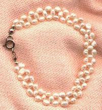 Woven Pearl Bracelet More Pearl Weaving