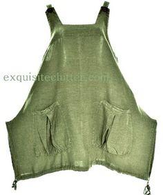Apron dress or top Diy Clothing, Sewing Clothes, Clothing Patterns, Apron Patterns, Dress Patterns, Smocks, Estilo Hippie, Apron Dress, Linen Dresses