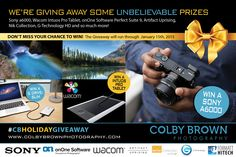 you can now win my beloved Alpha 6000 Colby Brown Holiday Giveaway 2014 #CBholidaygiveaway
